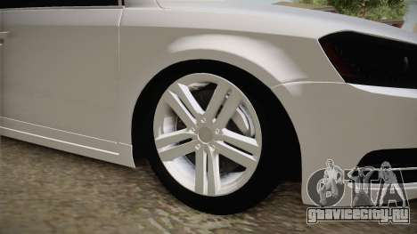 Volkswagen Passat 2011 Beta для GTA San Andreas вид сзади