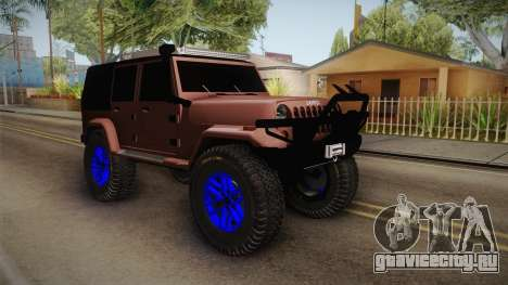 Jeep Wrangler 2012 для GTA San Andreas вид справа