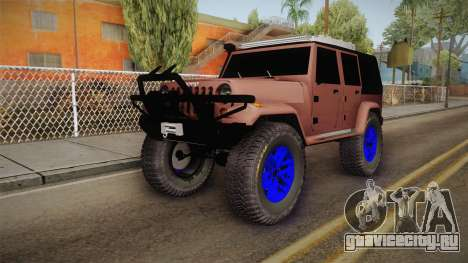 Jeep Wrangler 2012 для GTA San Andreas