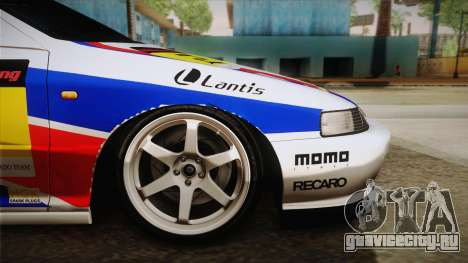 Honda Integra Tipe R Girl und Panzer Itasha для GTA San Andreas вид сзади слева