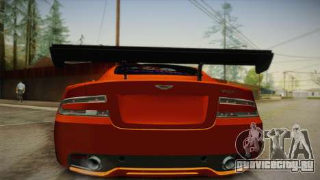 Aston Martin Virage 2012 для GTA San Andreas вид сзади