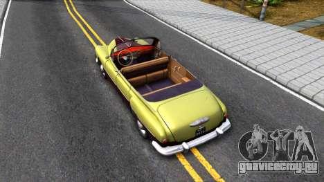 ГАЗ-12 (ЗиМ) Фаэтон для GTA San Andreas вид сзади