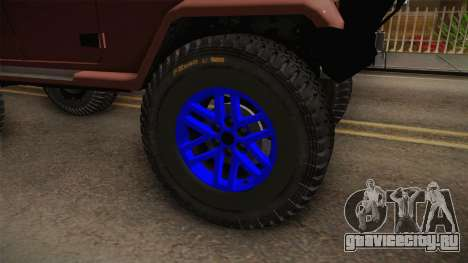 Jeep Wrangler 2012 для GTA San Andreas вид сзади