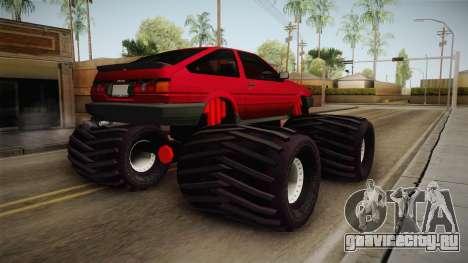 Toyota Corolla GT-S Monster Truck для GTA San Andreas вид справа