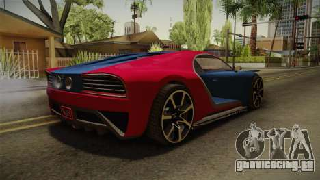 GTA 5 Truffade Nero для GTA San Andreas вид сзади слева