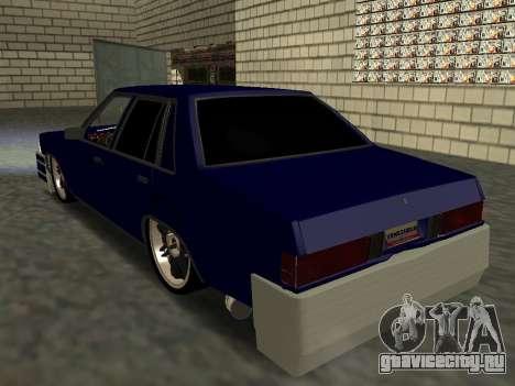 Chevrolet Malibu 1980 V3 Super Tuning Blue для GTA San Andreas вид изнутри