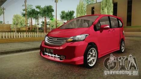 Honda Freed 2014 для GTA San Andreas вид сзади слева