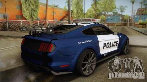 Ford Mustang GT 2015 Barricade Transformers 5 для GTA San Andreas вид слева
