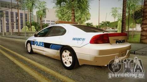 Dodge Intrepid 2001 El Quebrados Police для GTA San Andreas вид слева