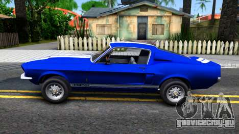 Ford Mustang Shelby GT500 для GTA San Andreas вид слева