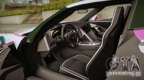 Chevrolet Corvette Z51 C7 2014 GOODSMILE Racing для GTA San Andreas вид изнутри