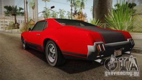 GTA 5 Declasse Sabre GT SA Style для GTA San Andreas вид справа