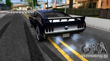 Ford Mustang Boss 557 для GTA San Andreas вид сзади слева