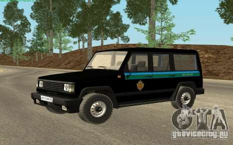 УАЗ 3170 ФСБ России v0.1 для GTA San Andreas вид сзади слева