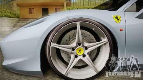 Ferrari 458 Italia FBI для GTA San Andreas вид сзади слева