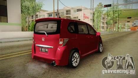 Honda Freed 2014 для GTA San Andreas вид справа