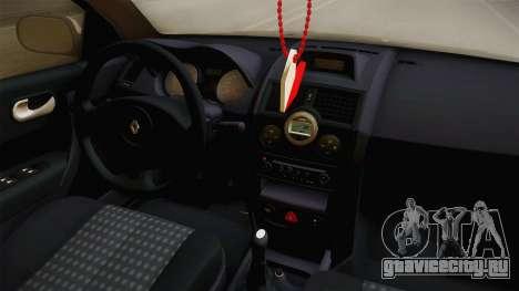 Renault Megane Sedan Stance для GTA San Andreas вид изнутри