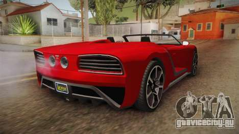 GTA 5 Truffade Nero Spyder для GTA San Andreas вид сзади слева
