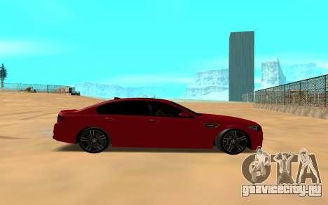 BMW 5 Series F10 для GTA San Andreas вид сзади слева