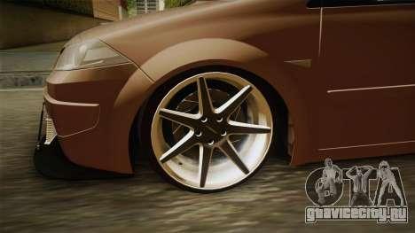 Renault Megane Sedan Stance для GTA San Andreas вид сзади