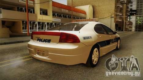 Dodge Intrepid 2001 El Quebrados Police для GTA San Andreas вид сзади слева