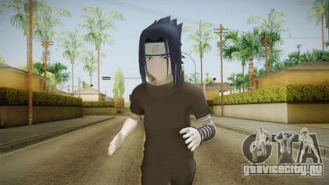 NUNS4 - Sasuke Genin Black Clothes Normal Eyes для GTA San Andreas