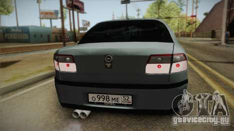 Opel Omega B для GTA San Andreas вид сзади