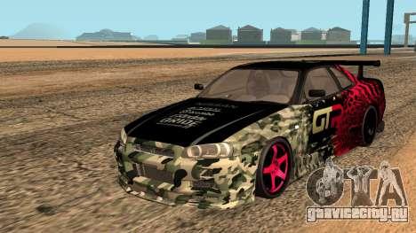 Nissan GTR R34 GTR CLAN для GTA San Andreas для GTA San Andreas