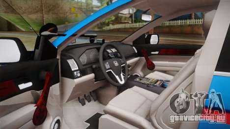 Honda CR-V Turkish Gendarmerie для GTA San Andreas вид сзади слева