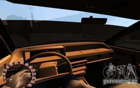 VAZ 21083i  American classic для GTA San Andreas вид снизу