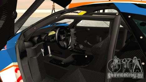 1996 Gulf McLaren F1 GTR (BPR Series) для GTA San Andreas вид изнутри