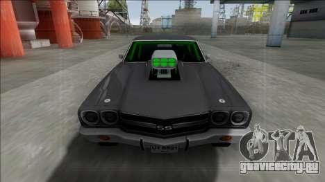Chevrolet El Camino SS 1970 Drag для GTA San Andreas вид сзади слева