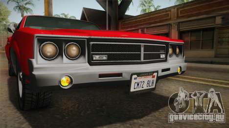 GTA 5 Declasse Sabre GT SA Style для GTA San Andreas вид снизу