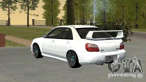 Subaru Impreza WRX STi Remastered для GTA San Andreas вид сзади слева