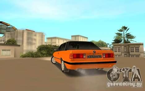 BMW E 30 для GTA San Andreas вид сзади слева