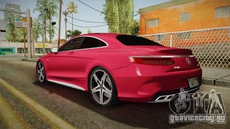 Mercedes-Benz S63 AMG Coupe 2015 v2 для GTA San Andreas вид слева