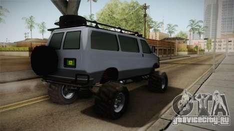 Bravado Rumpo Custom для GTA San Andreas вид сзади слева