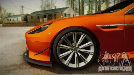 Aston Martin Virage 2012 для GTA San Andreas вид сзади слева