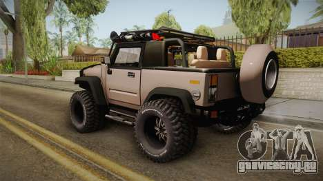 Hummer Wrangler H2 для GTA San Andreas вид слева