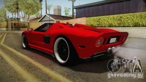 Ford GTX1 FBI для GTA San Andreas вид сзади слева