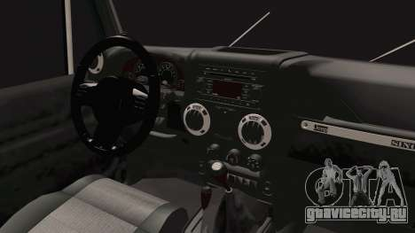Jeep Wrangler 2012 для GTA San Andreas вид изнутри