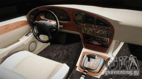 Ford Scorpio Mk2 V8 для GTA San Andreas вид изнутри