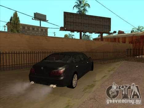BMW M5 Limousine для GTA San Andreas вид сзади слева