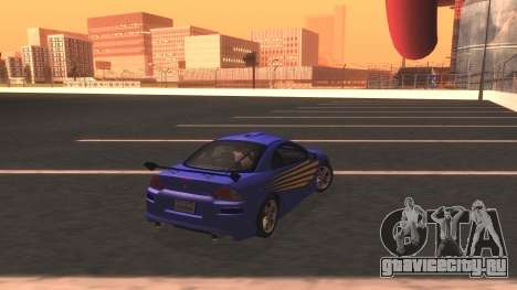 2003 Mitsubishi Eclipse GTS Mk.III для GTA San Andreas вид изнутри