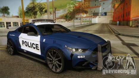 Ford Mustang GT 2015 Barricade Transformers 5 для GTA San Andreas