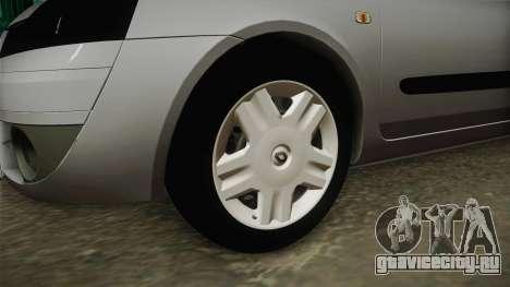 Renault Symbol 2006 для GTA San Andreas вид сзади