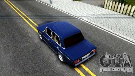 ВАЗ 2106 V2 для GTA San Andreas вид сзади