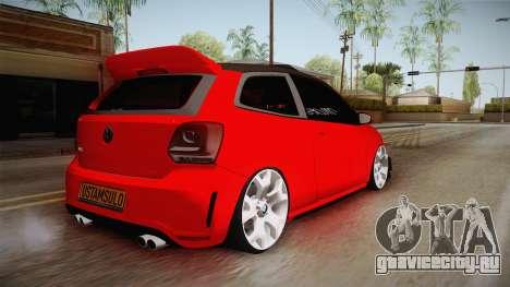 Volkswagen Polo Maskot для GTA San Andreas вид сзади слева