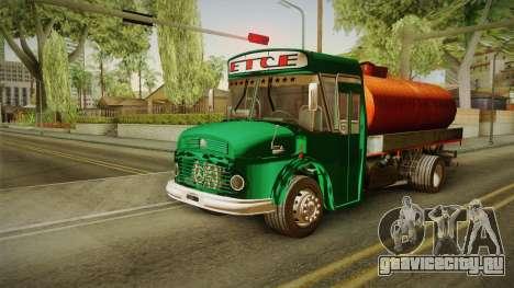 1114 (Bus) Recortado a Camion для GTA San Andreas вид сзади слева