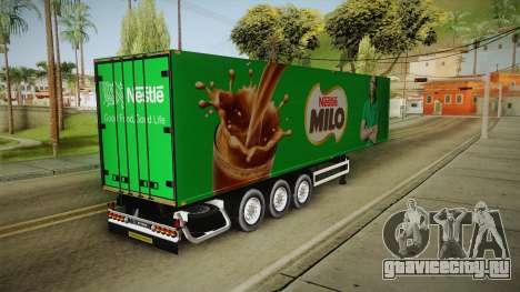 Nestle Milo Trailer для GTA San Andreas вид сзади слева